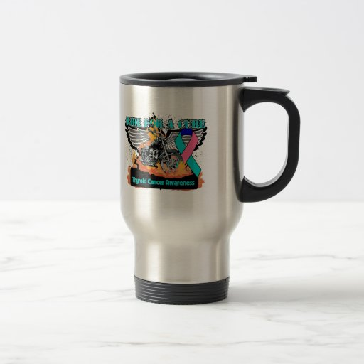 Ride For a Cure - Thyroid Cancer Mugs