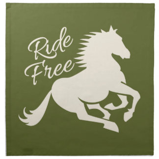 Ride Free custom cloth napkins