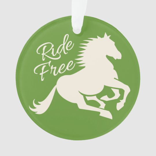 Ride Free custom color ornament
