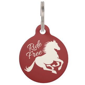 Ride Free custom color pet tag