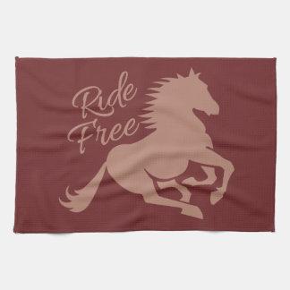Ride Free custom kitchen towel