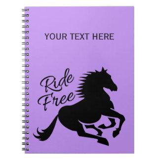Ride Free custom notebook