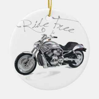 Ride Free Harley Davidson Christmas Ornament