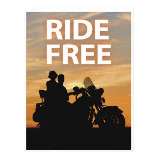 Ride Free Postcard