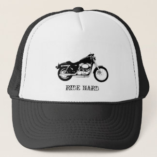 RIDE HARD Motorcycle trucker hat