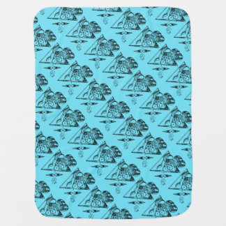 Ride in space - baby blanket cute character
