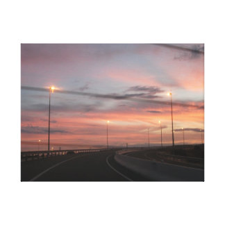 Ride into a Spanish Sunset Canvas Print
