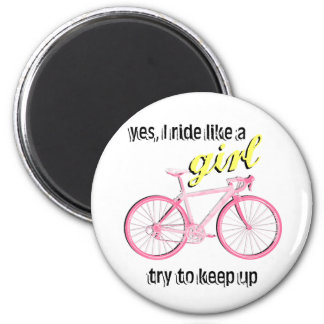 Ride Like a Girl 6 Cm Round Magnet