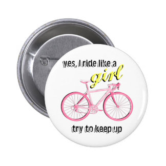Ride Like a Girl 6 Cm Round Badge