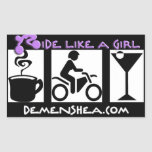 ride like a girl Stickers