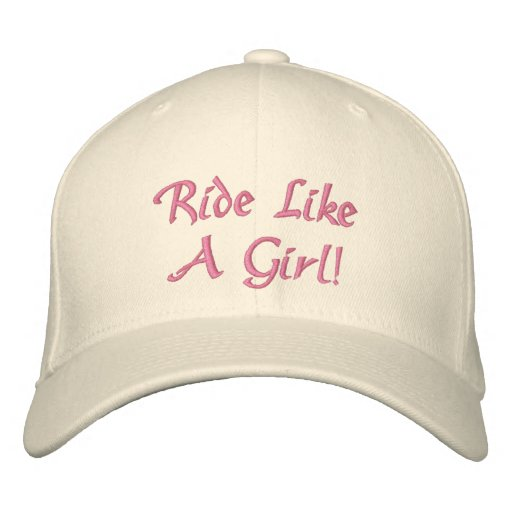 """""""Ride Like A Girl"""" Women's FlexFit Hat Embroidered Hat"""