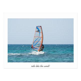 ride like the wind postcard