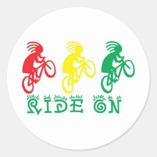ride on round stickers