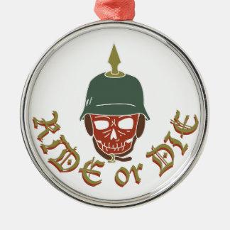 Ride Or Die Pickelhaube Silver-Colored Round Decoration