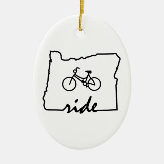 Ride Oregon (Cycling) Christmas Ornament