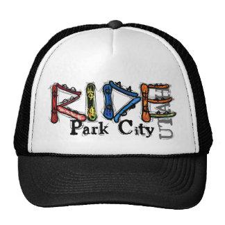 Ride Park City Utah snowboard hat