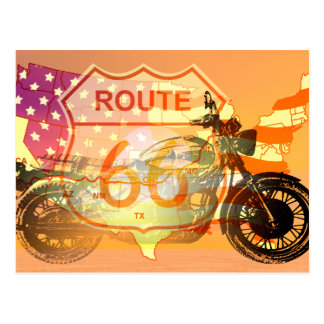 Ride Route 66 Postcard
