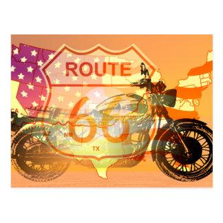 Ride Route 66 Postcard