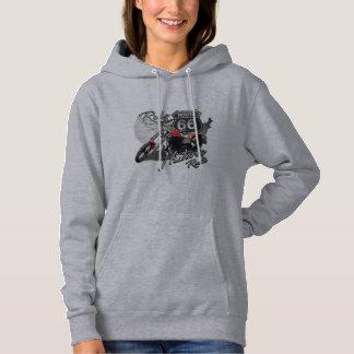 Ride Route 66,Vintage Motorcycle Hooded Sweatshirt