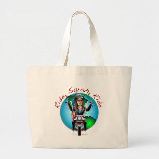 Ride Sarah Ride Jumbo Tote Bag