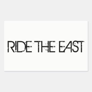 Ride The East Rectangular Sticker