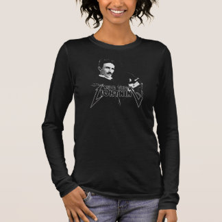 Ride The Lightning Nikola Tesla Long Sleeve T-Shirt