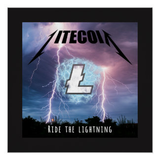 Ride the Lightning with Litecoin Poster