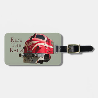 Ride the Rails Bag Tag