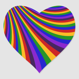 Ride the Rainbow Slide Colorful Stripes Sticker