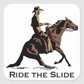 Ride The Slide Square Stickers