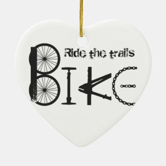 Ride the Trail Bike Graffiti quote Christmas Ornament