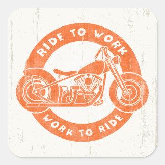 Ride to Work Sticker
