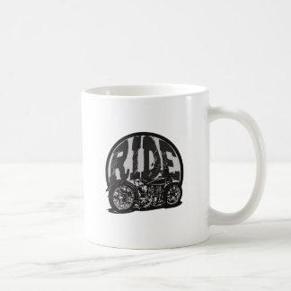 Ride Vintage Motorcycle Coffee Mugs