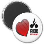 RIDE WITH HEART MAGNETS