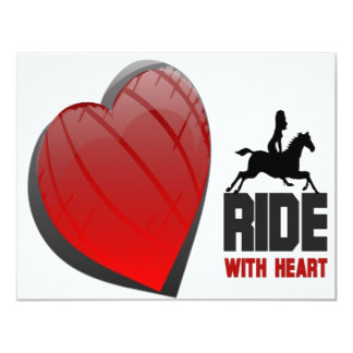 RIDE WITH HEART PRODUCTS 11 CM X 14 CM INVITATION CARD