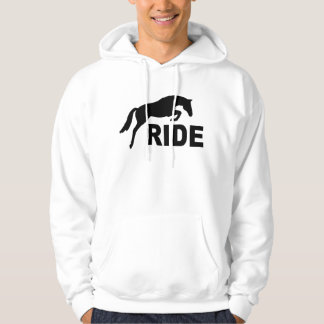RIDE with Jumping Horse (black) Hoodie