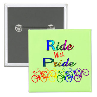 Ride With Pride Gay Lesbian Cyclist Gifts Pin