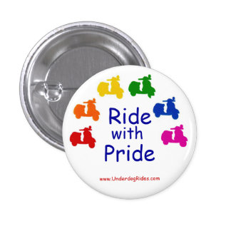 Ride with Pride Scooter Button