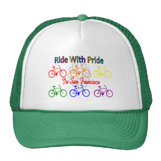 ride with pride SF--Gay Lesbian cyclist Mesh Hat