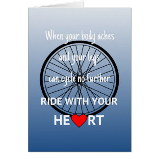 Ride with your heart motivational card