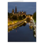 Rideau Canal and the Parliament Buildings at Night Card