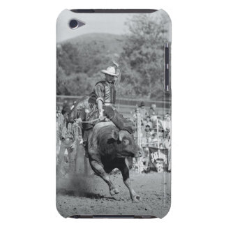 Rider hanging on to bucking bull 2 barely there iPod covers