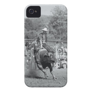 Rider hanging on to bucking bull 2 iPhone 4 cover