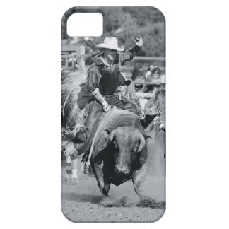 Rider hanging on to bucking bull barely there iPhone 5 case