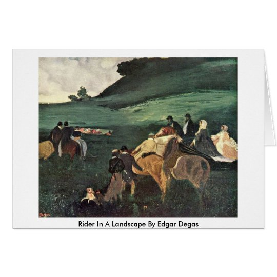 Rider In A Landscape By Edgar Degas Card
