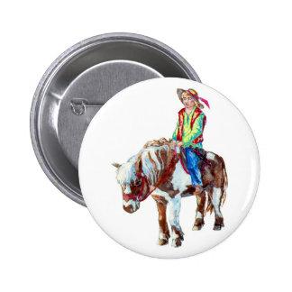 Rider on a pony badge