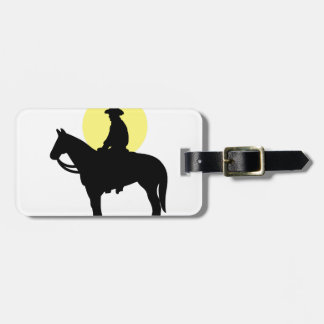 Rider Silhouette Luggage Tag