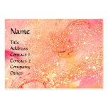 RIDERS IN THE NIGHT bright pink,red,gold sparkles Pack Of Chubby Business Cards