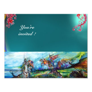RIDERS IN THE STORM gem blue 11 Cm X 14 Cm Invitation Card