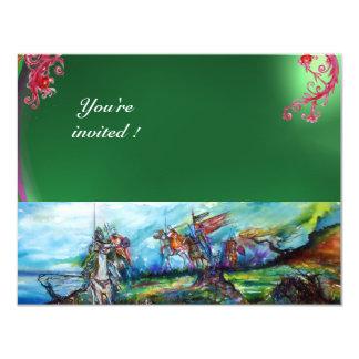 RIDERS IN THE STORM gem green 11 Cm X 14 Cm Invitation Card